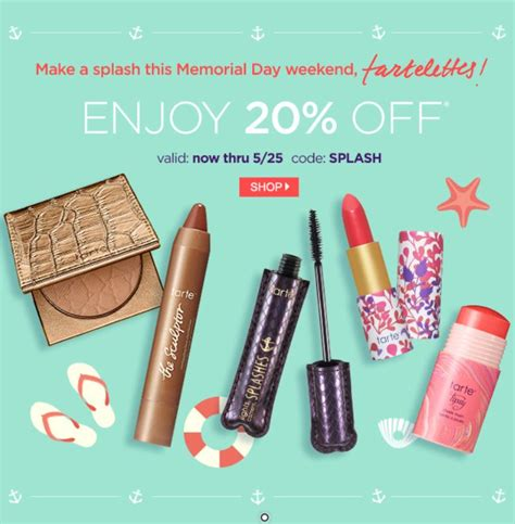 Tarte Cosmetics Sweepstakes - tarte cosmetics 20 off your entire purchase