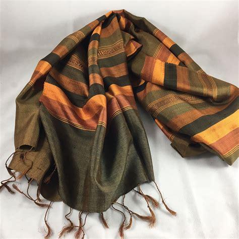 thai silk shawl with traditional pattern