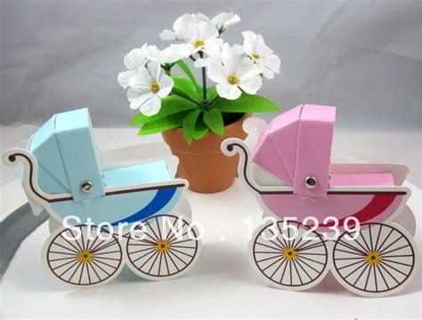 Baby Stroller Paper Box 50pcs pram stroller baby cart shower christening box favor gift boxes in gift bags
