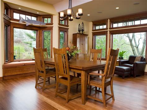 mission style dining room photos hgtv