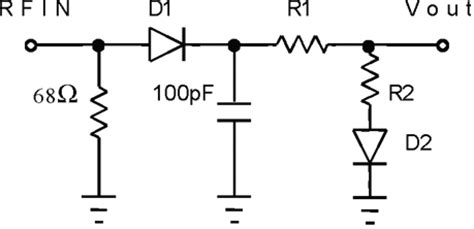 what is diode detector rf diode detector circuit diagram rf wiring diagram and circuit schematic