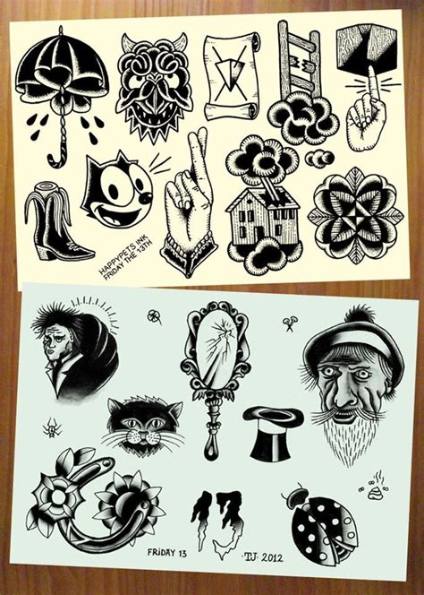 tattoo flash friday the 13th events happypets ink friday the 13th tattoo flash body
