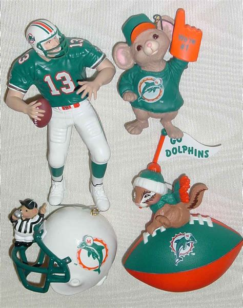 lot of 7 miami dolphins dan marino holiday ornaments