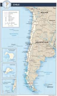 map of chile south america chile touristische karte