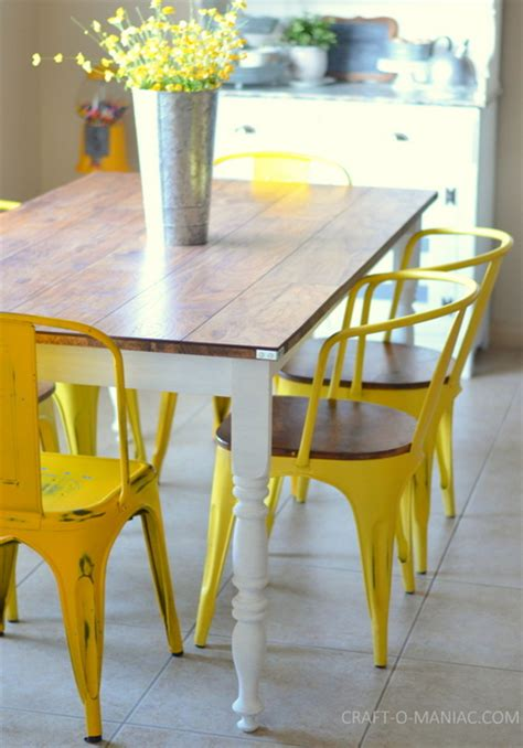 diy reved rustic kitchen table craft o maniac