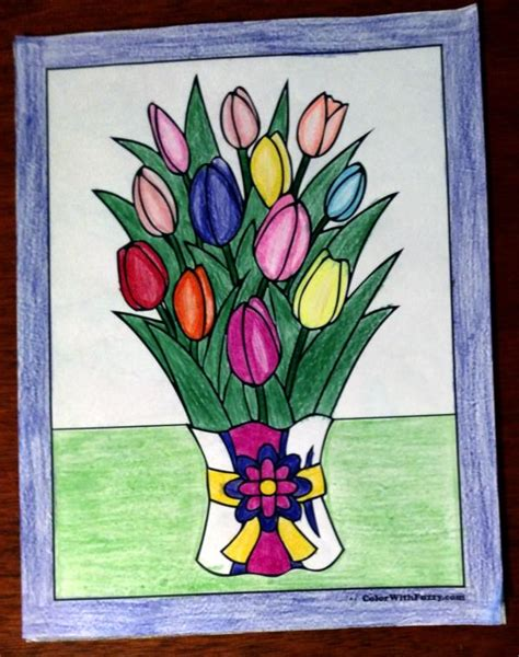tulip flower coloring pages   printables