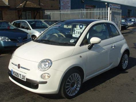 used fiat 500 2009 petrol 1 2 lounge 3dr hatchback white