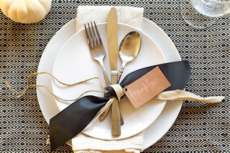 Place Setting Ideas | diy thanksgiving place setting idea tamera mowry