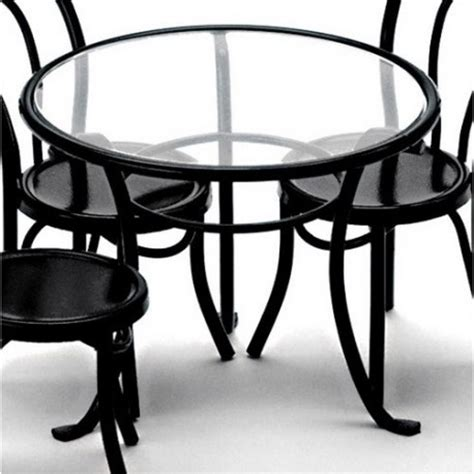 black patio table patio table black dollhouse picnic outdoor tables