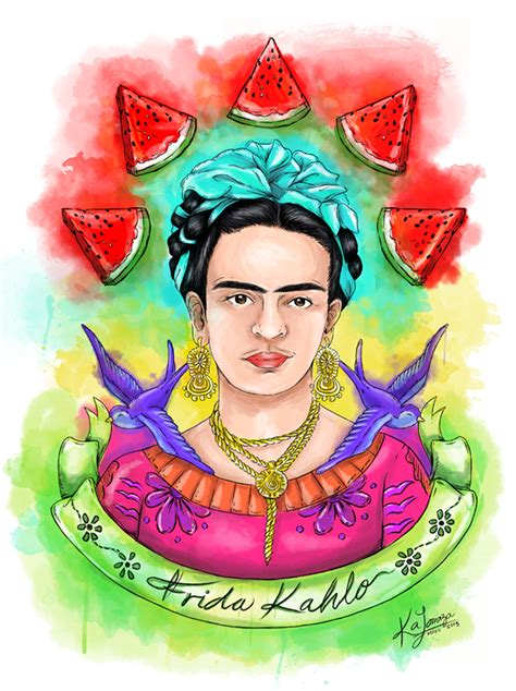 imagenes realistas de frida kahlo ilustraci 243 n i frida kahlo on behance