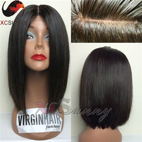 bob middle part wigs find more human wigs information about top quality cheap