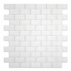 White 1x2 Mini Glass Subway Tile for Backsplashes, Showers & More