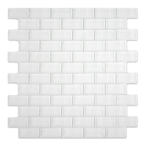 white glass subway tile backsplash white 1x2 mini glass subway tile for backsplashes showers
