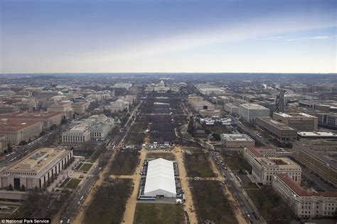 picture of inauguration crowd park service photos challenge trump on inauguration