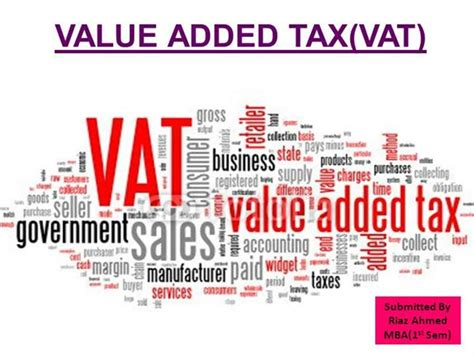Https Fileit Tax Mba by Value Added Tax Vat Mba By Riaz Authorstream