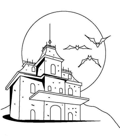 spooky castle coloring page haunted house drawings haunted house coloring pages