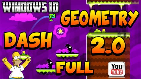geometry dash full version windows geometry dash 2 0 full para pc windows 10 2015 youtube