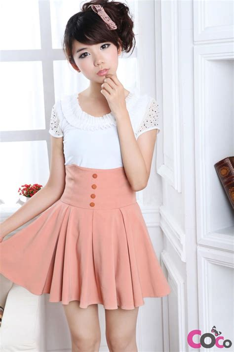 Dress Forever Koreanstyle pink high weist globed korean fashion summer skirt if only this skirt was a