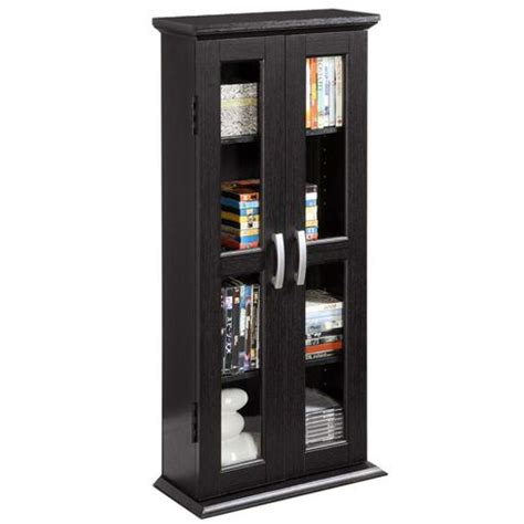 Walmart Dvd Cabinet by Black Wood Dvd Tower Media Cabinet Walmart Ca