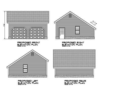 garage blueprint 24x24 garage plan salt box roof 24x24 garage print