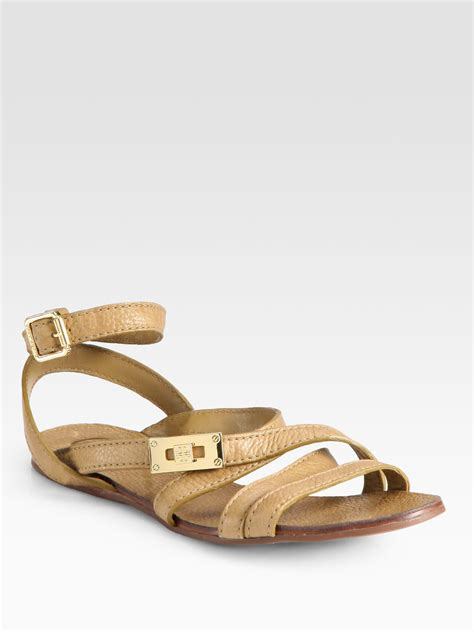 burch gladiator sandals burch dalcin pebbled leather gladiator sandals in