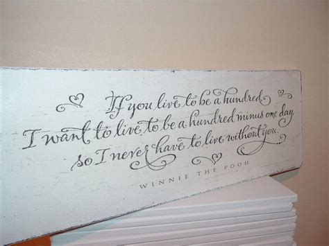 winnie pooh wooden plaque quote 100 years smallest room shabby