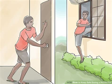 how hot does a house fire get 3 ways to keep safe during a house fire wikihow