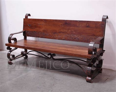 wrought iron wood bench wrought iron and wood bench banca espanola custom benches demejico