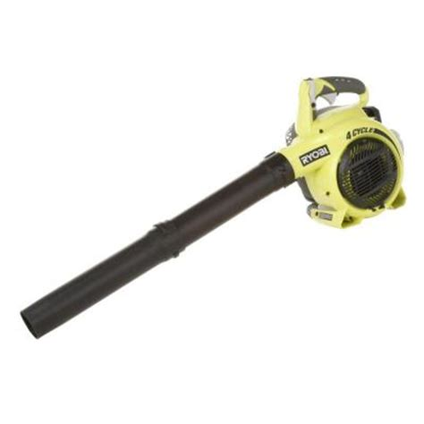 Home Depot Gas Leaf Blower by Ryobi 155 Mph 400 Cfm 4 Cycle Handheld Gas Blower Ry09466a