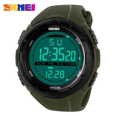 Jam Tangan Casio Sport Wanita skmei jam tangan sport digital wanita dg1074 army green jakartanotebook