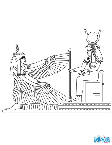 egypt god coloring pages maat and isis egyptian deities coloring pages hellokids com