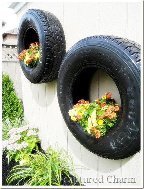 Tires As Planters by 25 Best Ideas About Tire Planters On Tire