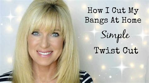 how i cut my bangs at home simple twist cut