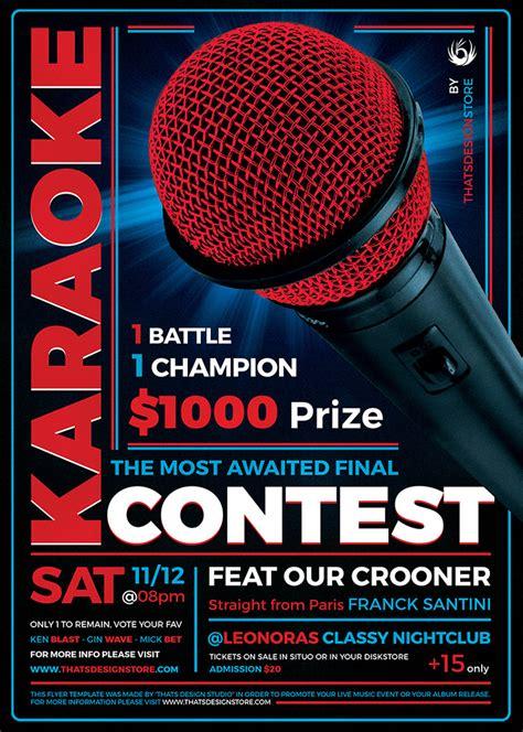 3 Flyers Psd Karaoke Flyer Templates Thatsdesignstore Karaoke Flyer Template Free