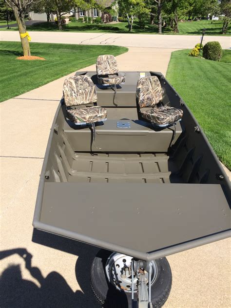jon boat upgrades duck boat repaint upgrade trap shooters forum