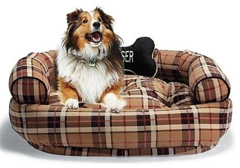 comfy pet bed frontgate designer print comfy pet bed in traditional plaid