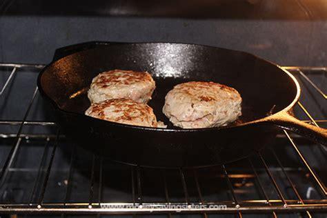 stuffed turkey burgers in oven