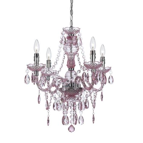 Mini Chandelier Pink Af Lighting Naples 4 Light Chrome Mini Chandelier With Pink Plastic Bead Accents 8683 4h The