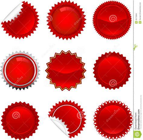 red starbursts set stock images image