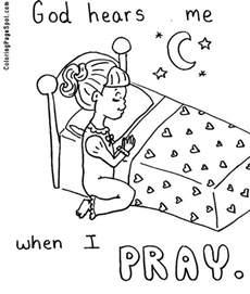 coloring pages about prayer praying printable clip praying coloring
