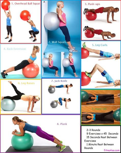 minute beginner stability swiss ball workout fitneass