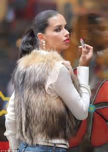 Dons Carpet by Adriana Lima Puts Split Woes Behind Her And Dons Furry