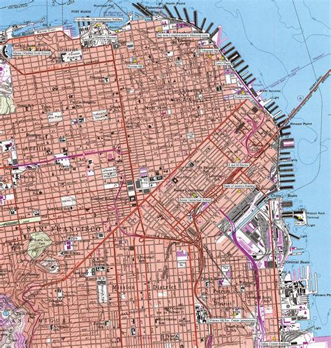 san francisco map topographic 1000 images about city by the bay on cliff