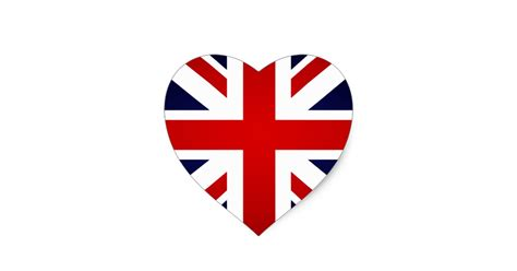 i love great britain union jack british flag heart