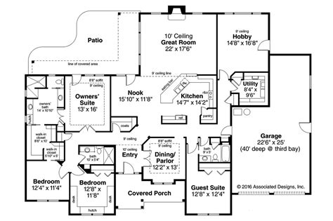 ranch style floor plans 3000 sq ft 4 bedroom ranch style homescountry ranch house plan plans