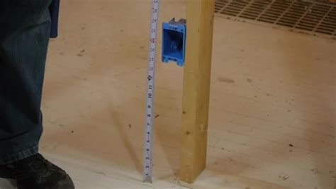 1 Floor Hieght - the minimum height of a wall outlet ehow