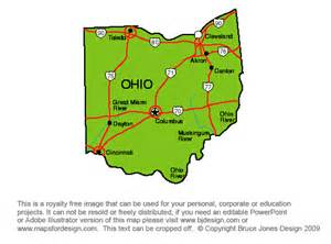 free map of ohio map travel holidaymapq