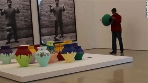 Ai Weiwei Dropping Vase by 1 Million Ai Weiwei Vase Destroyed In Miami As Artist Protests Cnn