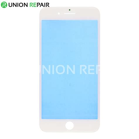 replacement for iphone 8 plus front glass lens with supporting frame white