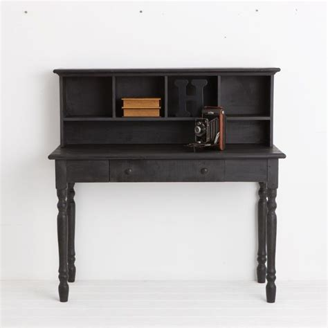 black antique wooden desk live